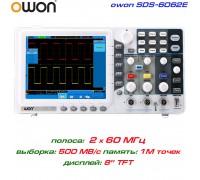SDS6062E осциллограф 2 х 60 МГц