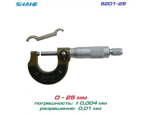 SHAHE 5201-25 микрометр 0-25мм