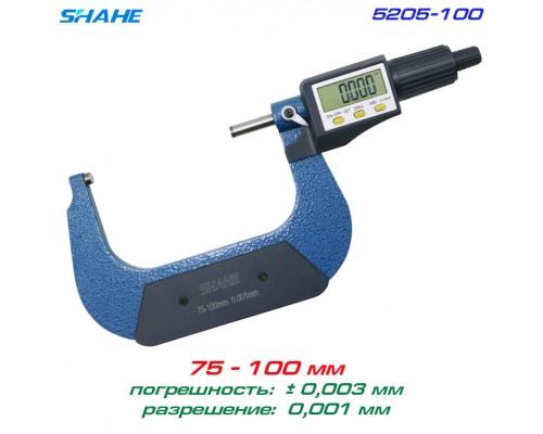 SHAHE 5205-100 цифровой микрометр 75-100 мм