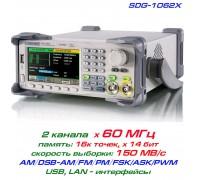 SDG1062X генератор Siglent, 2 x 60МГц