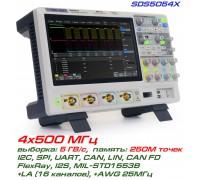 SDS5054X осциллограф Siglent, 4-х канальный, полоса: 500 МГц