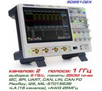 SDS5102X осциллограф Siglent, 2-х канальный, полоса: 1 ГГц