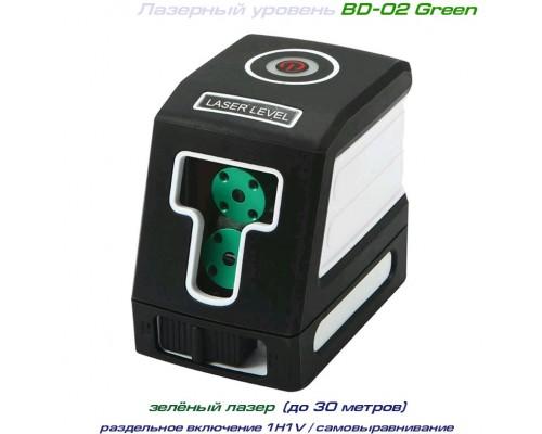 BD-02 Green лазерный уровень 1H+1V / зелёный