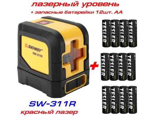 SNDWAY SW-311R лазерный уровень 1H+1V + батарейки