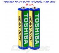 БатарейкаTOSHIBA Heavy Duty, 1.5В,тип АA(R06),кол-во: 2 шт.