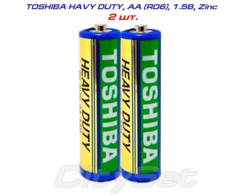 TOSHIBA Heavy Duty, AA, батарейка 1.5В, кол-во: 2 шт.