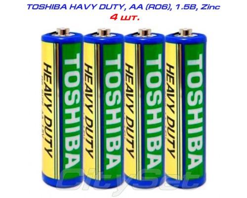 TOSHIBA Heavy Duty, AA, батарейка 1.5В, кол-во: 4 шт.