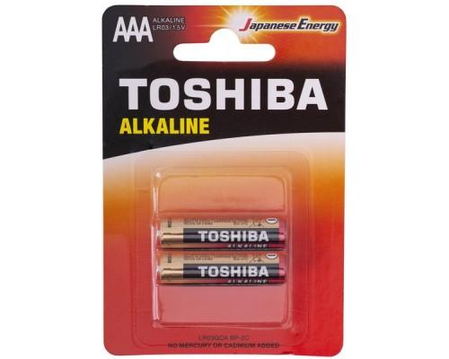 TOSHIBA Alkanine, AAA, батарейка 1.5В