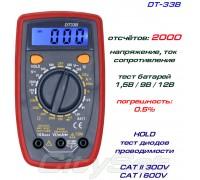DT33B, мультиметр с тестирование батарей 1,5В / 9В / 12В