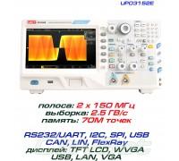 UPO3252E осциллограф 2 х 250 МГц, выборка: 2,5ГВ/с, память: 70М точек