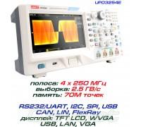 UPO3254E осциллограф 4 х 250 МГц, выборка: 2,5ГВ/с, память: 70М точек