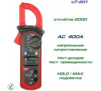 UNI-T, UT201, токовые клещи, AC 400A