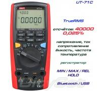 UNI-T, UT71C, профессиональный мультиметр TrueRMS, погрешность: ±0,025%, отсчётов: 40000