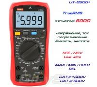 UNI-T, UT890D+, профессиональный мультиметр TrueRMS, погрешность: ±0,5%, отсчётов: 6000