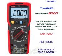 UNI-T, UT89X, профессиональный мультиметр TrueRMS, погрешность: ±0,5%, отсчётов: 6000