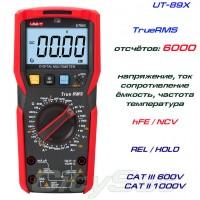 UT89XE, профессиональный мультиметр TrueRMS