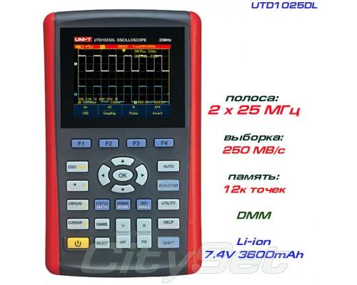 UTD1025DL осциллограф портативный, 2 канала х 25 МГц