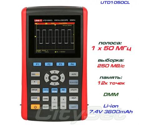 UTD1050CL осциллограф портативный, 1 канал х 50 МГц