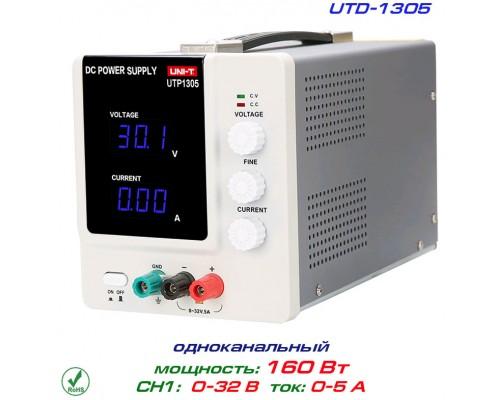 UTP1305 блок питания регулируемый, 1 канал: 0-32В, 0-5А