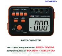 VC60E+, мегаомметр VICTOR, тестер сопротивления изоляции до 200 ГОм