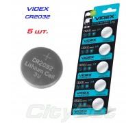 VIDEX батарейка CR2032, 3 В, к-ть: 1 шт.