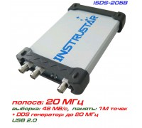 ISDS205B USB-осциллограф 2 х 20МГц,  с генератором сигналов