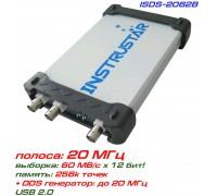 ISDS2062B USB-осциллограф 2 х 20МГц,  с генератором сигналов