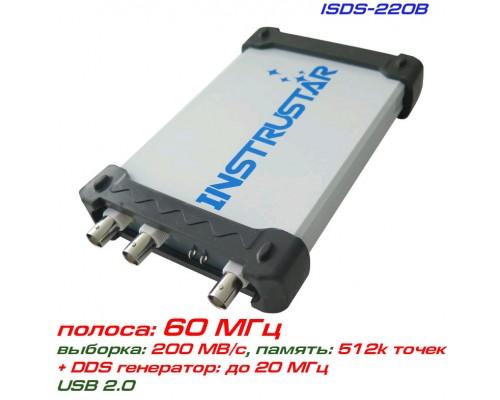 ISDS220B USB-осциллограф 2 х 60МГц,  с генератором сигналов