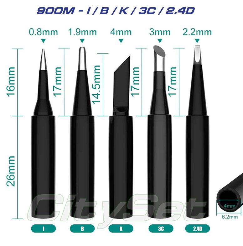 Набор жал 900M-T (I / B / K / 3C / 2.4D)  5 шт.,