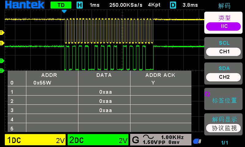 Осциллограф Hantek 2D10: быстрый захват и декодирование на шинах RS232/UART, I2C, SPI, CAN, LIN последовательной передачи данных https://cityset.com.ua/