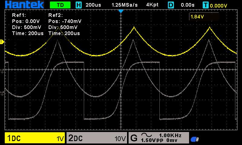 Вызов и сохранением осциллографом Hantek 2D10 опорных сигналов. https://cityset.com.ua/