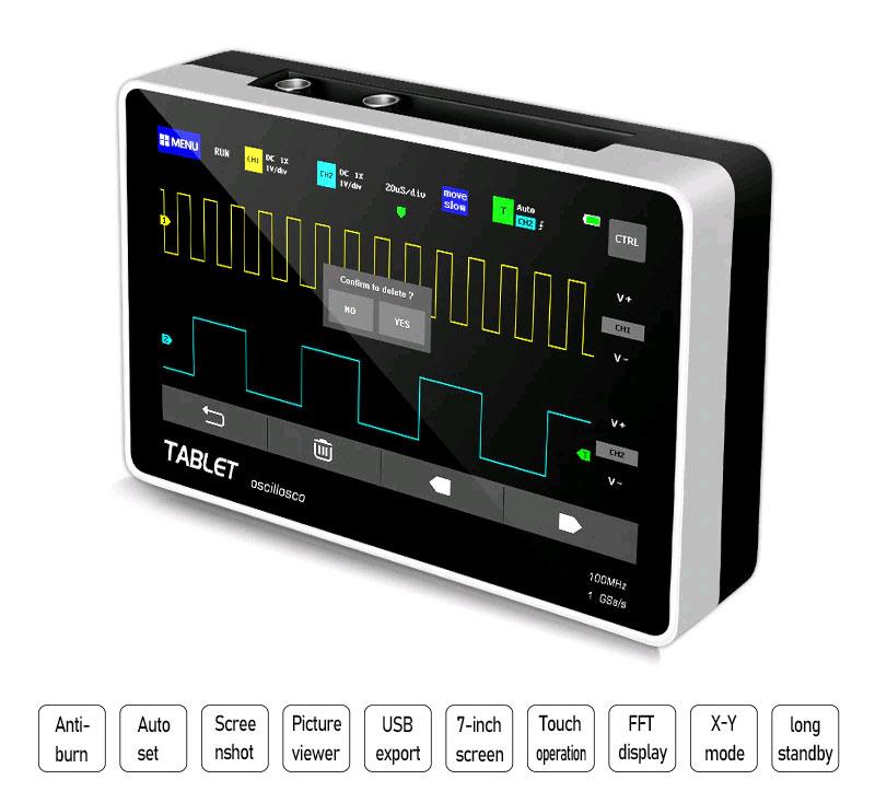 FNIRSI-1013D цифровой осциллограф оснащен защитой от высокого напряжения