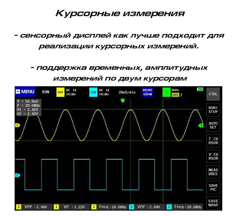 FNIRSI-1013D цифровой осциллограф: режимы захвата