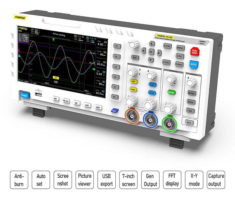 FNIRSI-1014D цифровой осциллограф особенности и преимущества