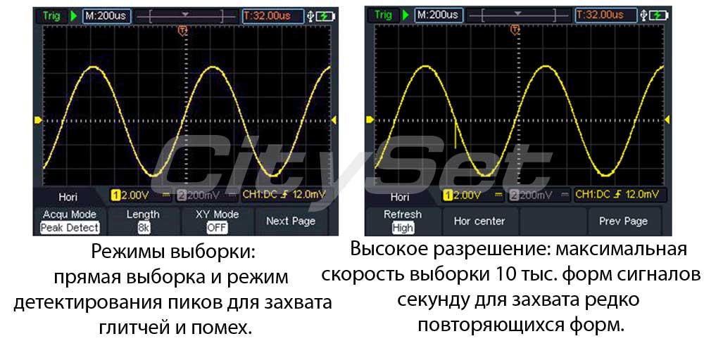 HDS272S портативный осциллограф: функциональность
