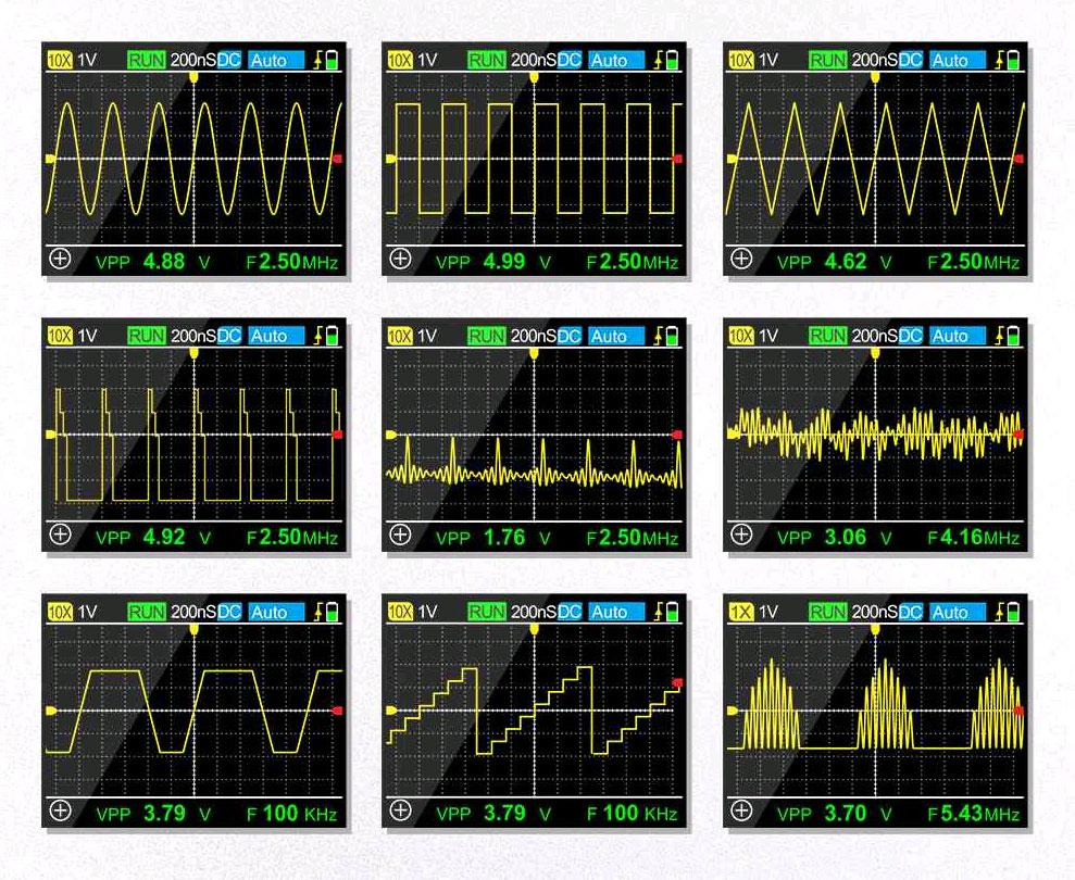 стандартная комплектация портативного осциллографа MDS120M