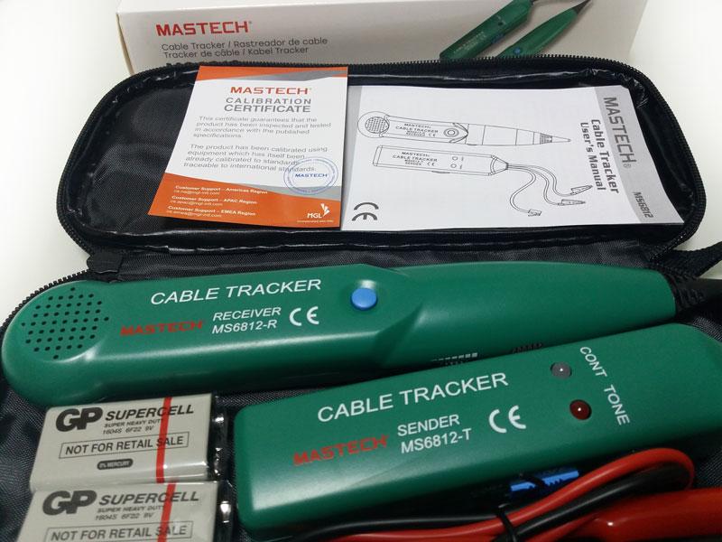 кабельный тестер MS6812 Mastech для поиска обрывов и трассировки кабеля