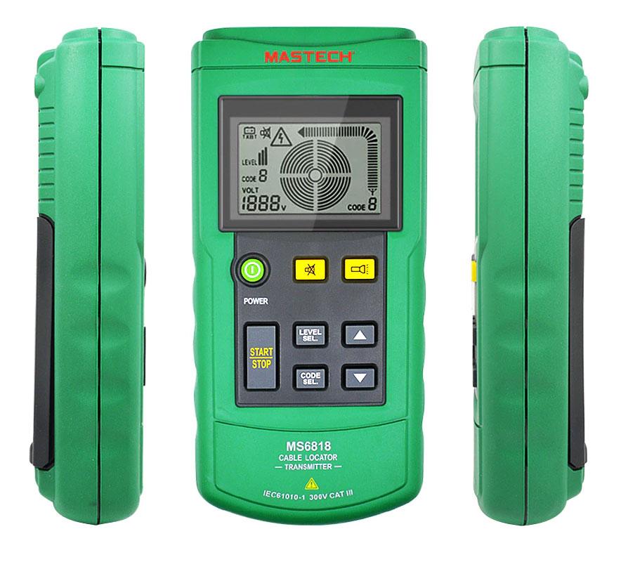Кабельный тестер MASTECH MS6818 наиболее высокофункциональный инструмент для поиска скрытой проводки