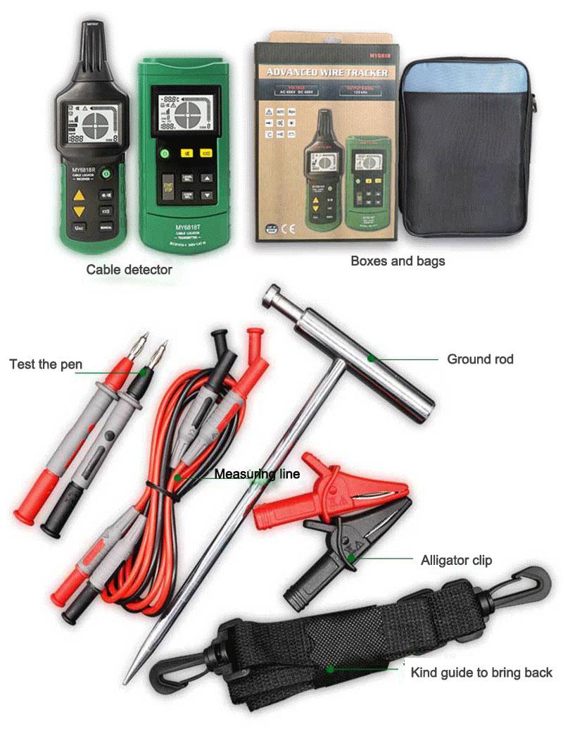 MY6818 стандартная комплектация кабельного тестера