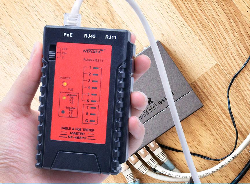 Удобный и эффективный инструмент NF468 Noyafa при тестировании устройств PoE