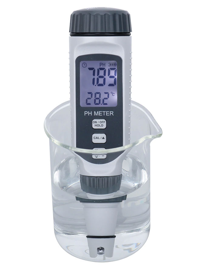 Комплект PH818+, включает измеритель кислотностиPH818 SmartSensor с дополнительным сменным датчикомpH.