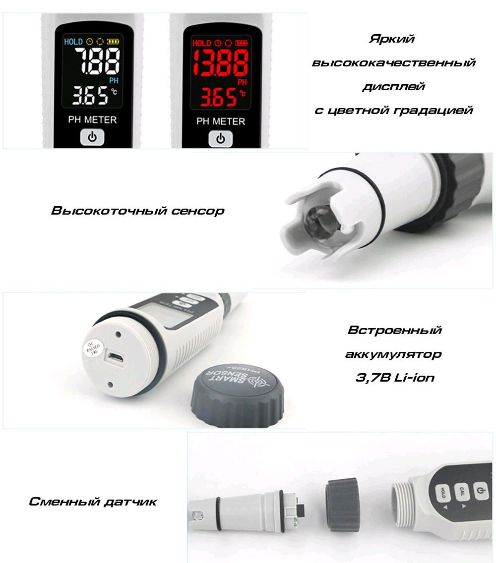 pH-метр PH828, пример применения кислотности