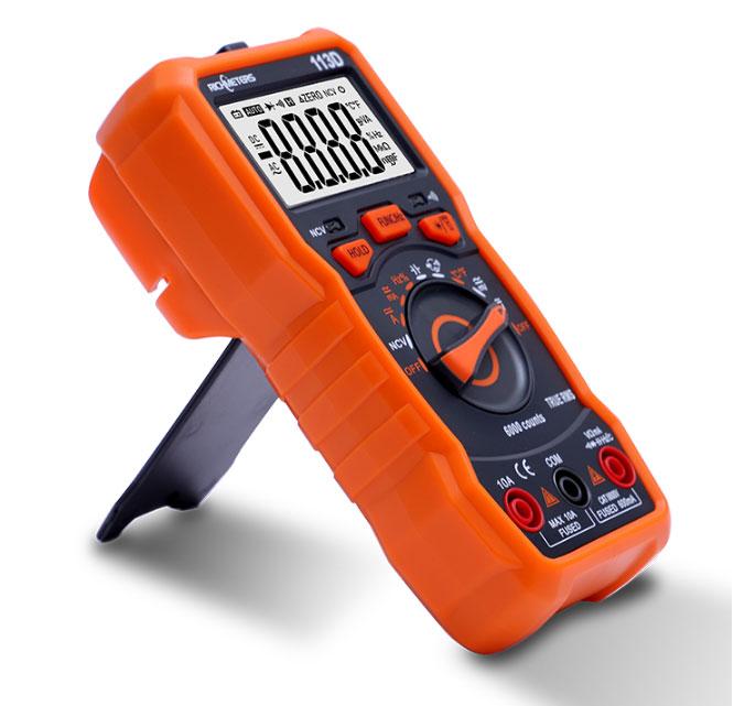 RM113D: внешний вид цифрового мультиметра Richmeters и назначение кнопок