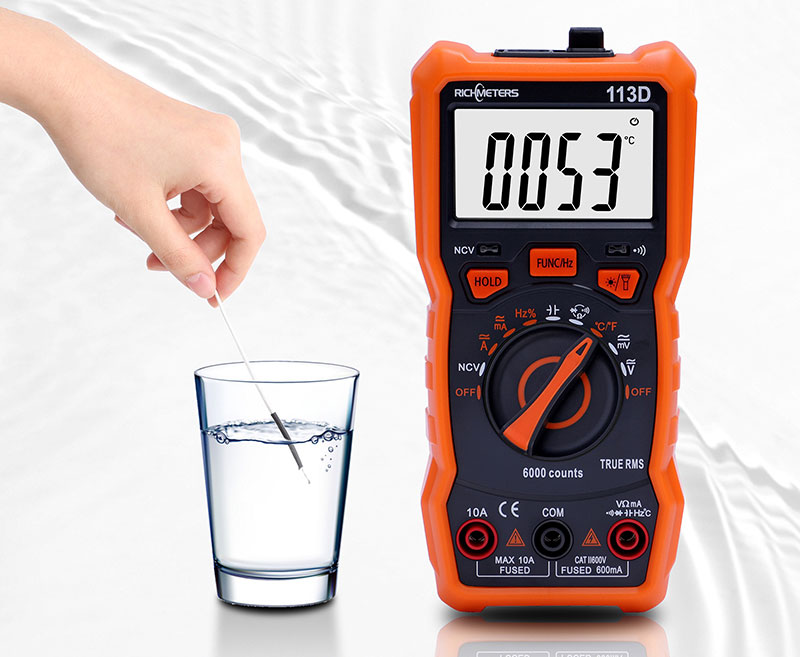 Тестирование батареек мультиметром RM-113D Richmeters
