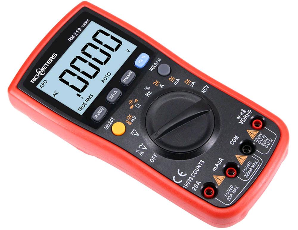 RM219: внешний вид цифрового мультиметра Richmeters