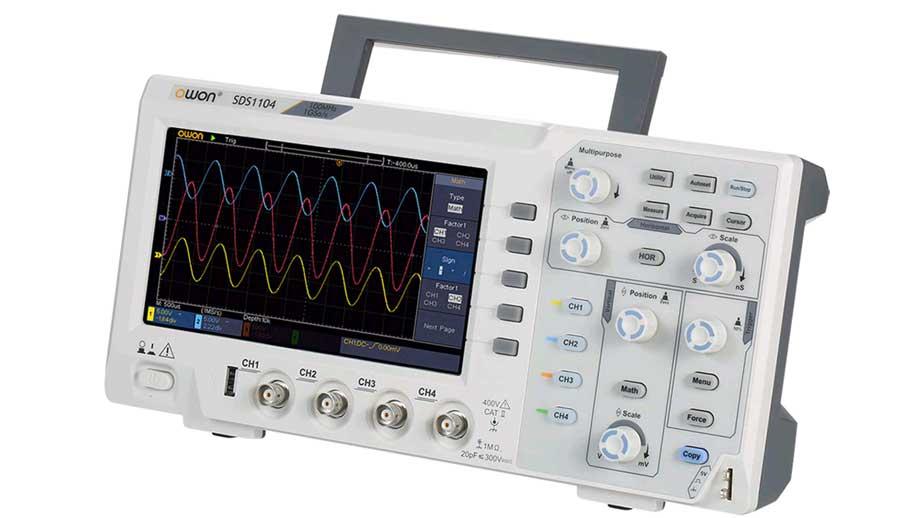 захват единичных сигналов осциллографом OWON SDS1104