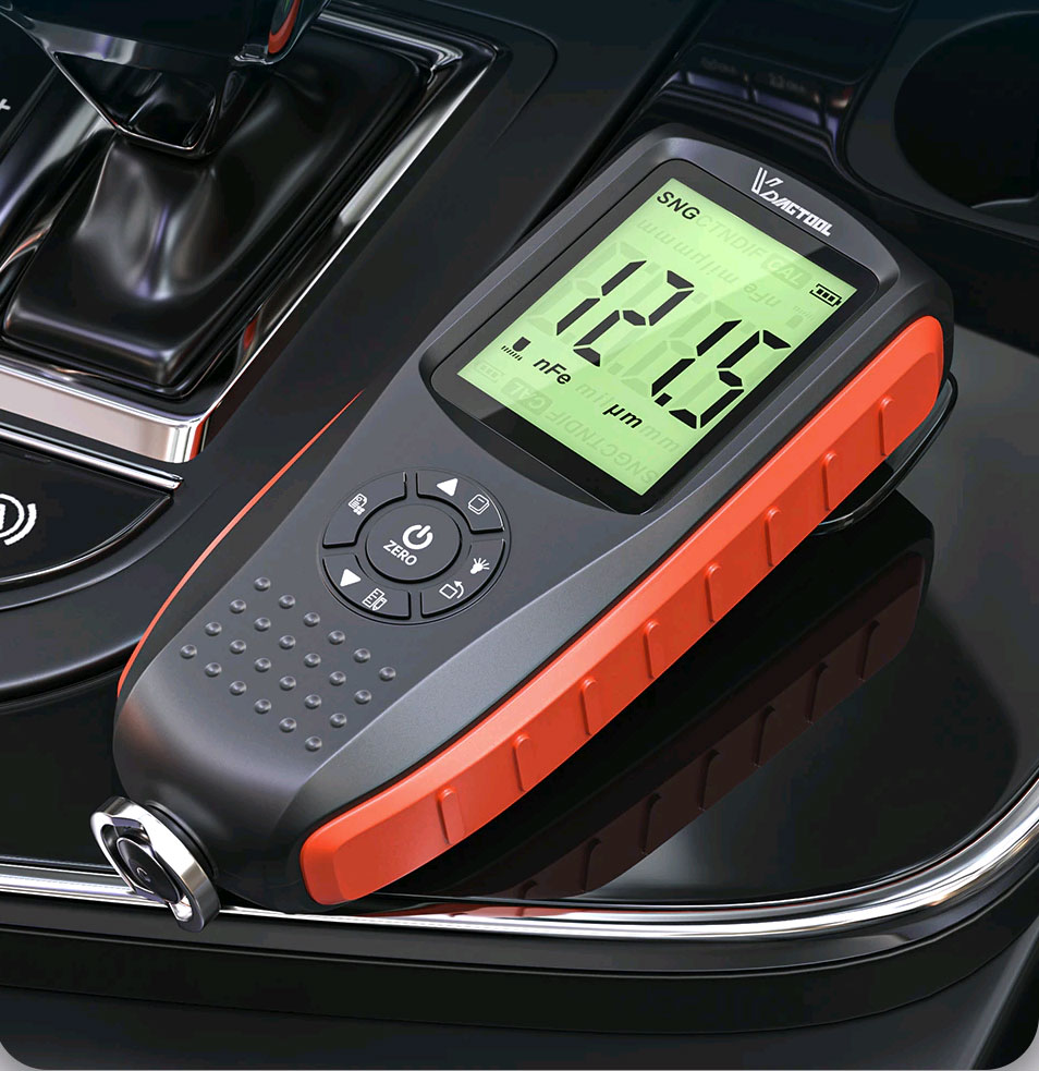 VC200 толщиномер краски оснащен стабильным датчиком толщины лакокрасочного покрытия