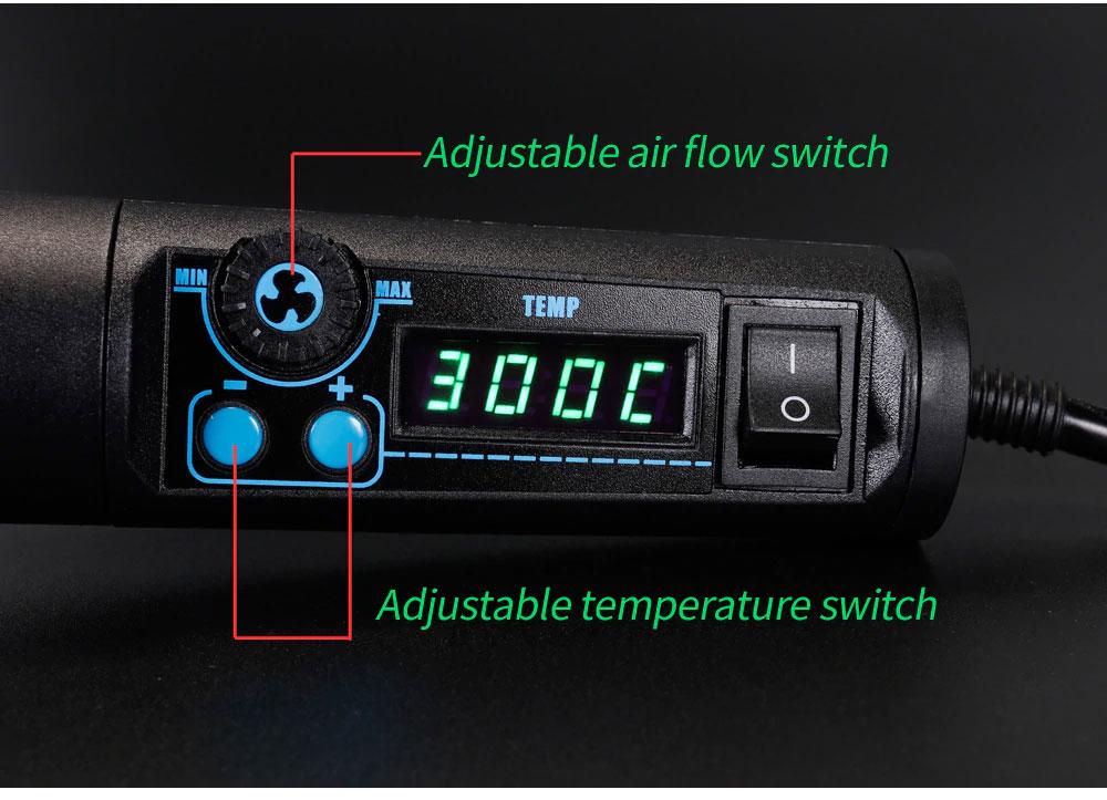 YIHUA 8858i –термовоздушная паяльная станция YIHUA8858i: удобные настройки температуры и потока воздуха