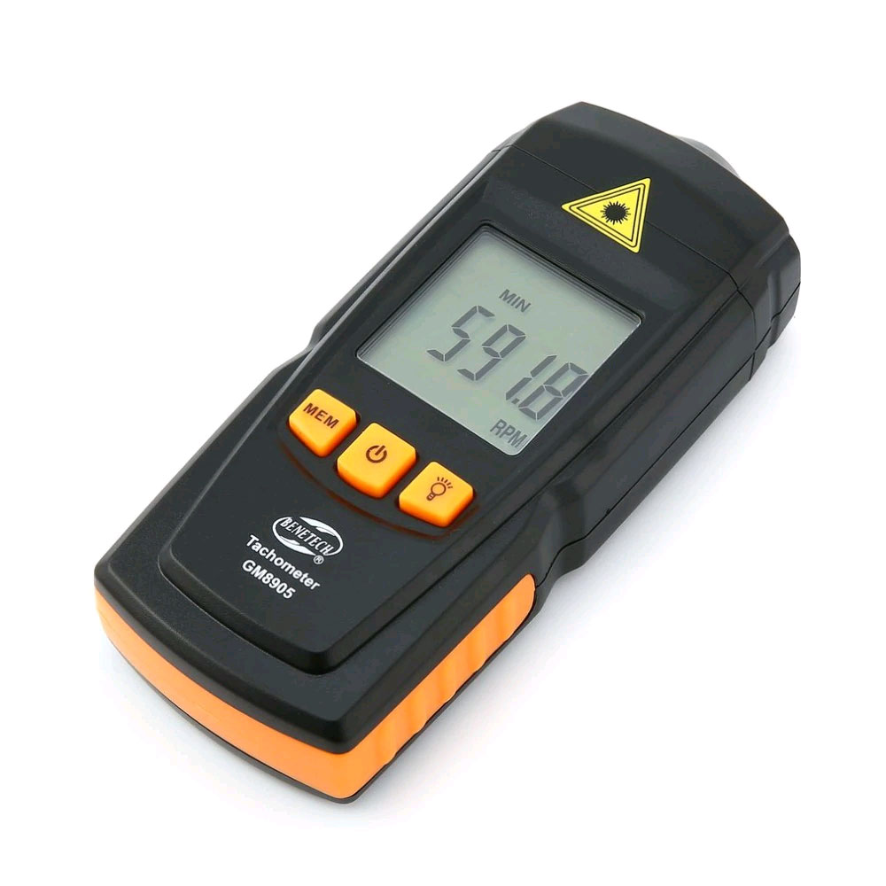 контактные измерения скорости тахометром GM8905