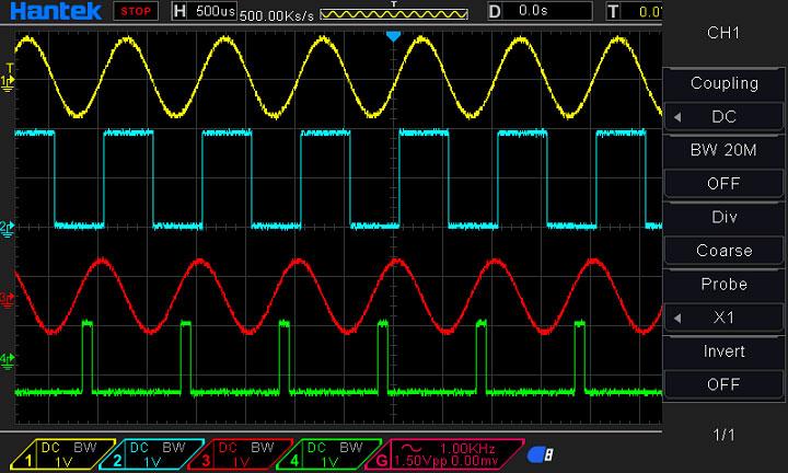 Hantek DSO4104B: реализация функции ограничения полосы пропускания.